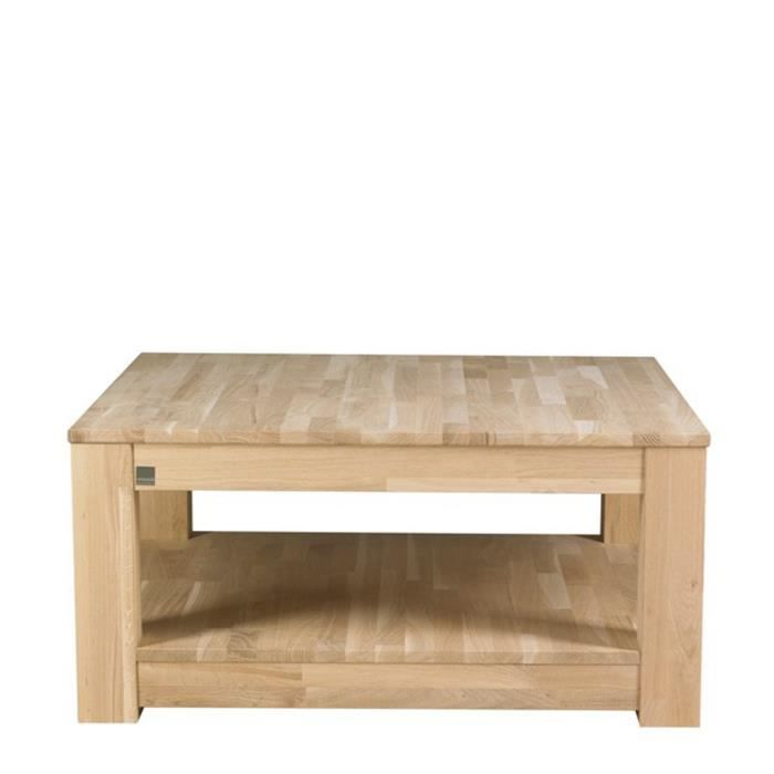 Table basse bois 85x85 carr e gerarda couleur c achat for Table basse couleur