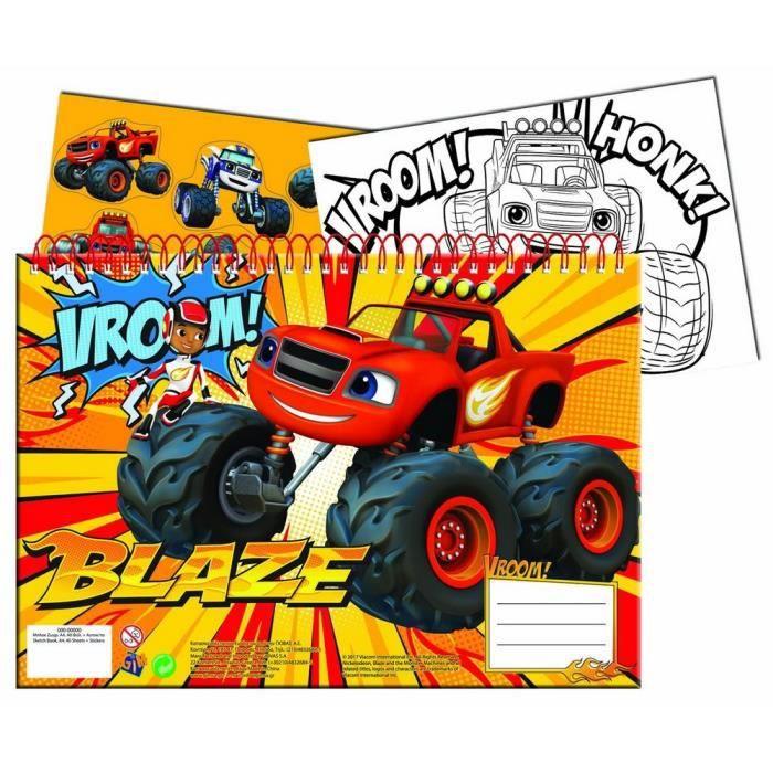 Cahier De Dessin Livre De Coloriage A4 Stickers Blaze Et Les Monster Machines Achat Vente Livre De Coloriage Cahier De Dessin Livre De Cdiscount