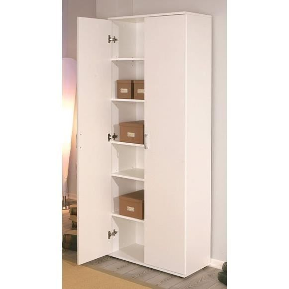 armoire de rangement 2 portes arconati blanche achat. Black Bedroom Furniture Sets. Home Design Ideas