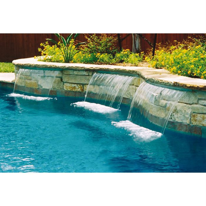 Cascade piscine s powerfall largeur 61cm achat vente for Piscine design fontaines sur saone