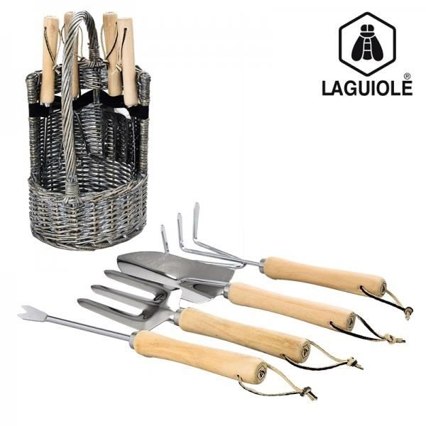 set de 4 outils de jardinage laguiole achat vente lot. Black Bedroom Furniture Sets. Home Design Ideas