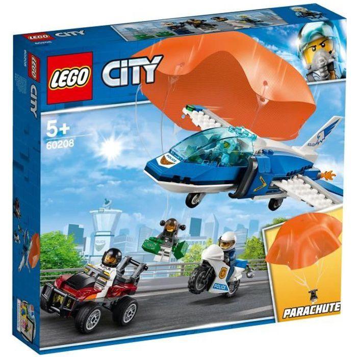 ASSEMBLAGE CONSTRUCTION LEGO® City 60208 L'arrestation en parachute