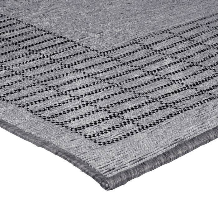 flores grand cadre tapis 120x170 gris polypropyl achat vente tapis cdiscount. Black Bedroom Furniture Sets. Home Design Ideas