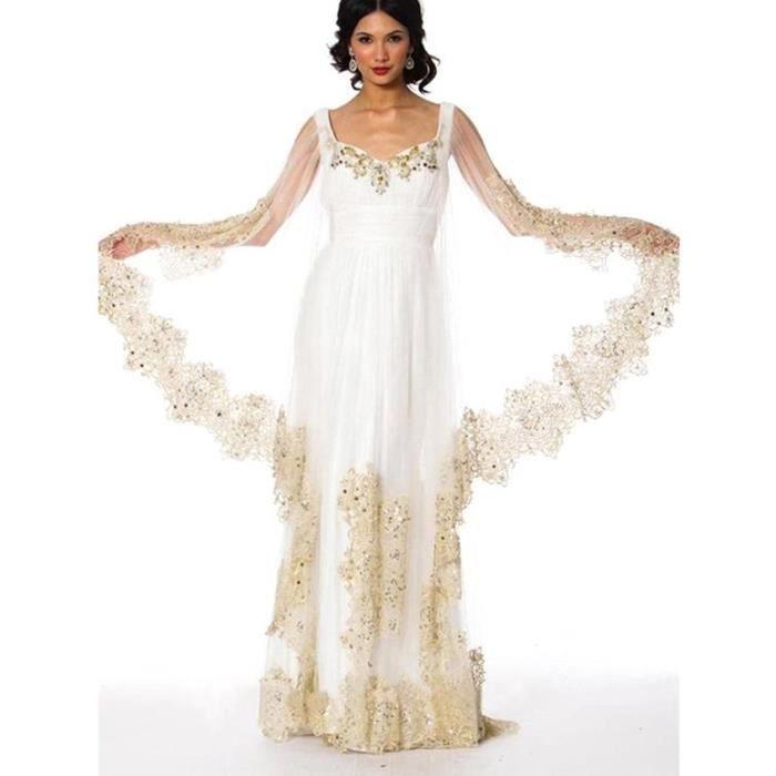 Médiéval Marocain caftan robe de marié-mariage
