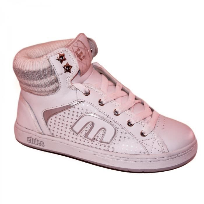 samples shoes HI TOP ETNIES ROCKERS WHITE SILVER WOMEN