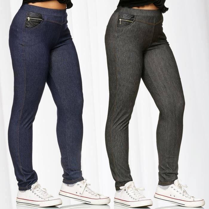 Leggings femme façon jeans livraison gratuite