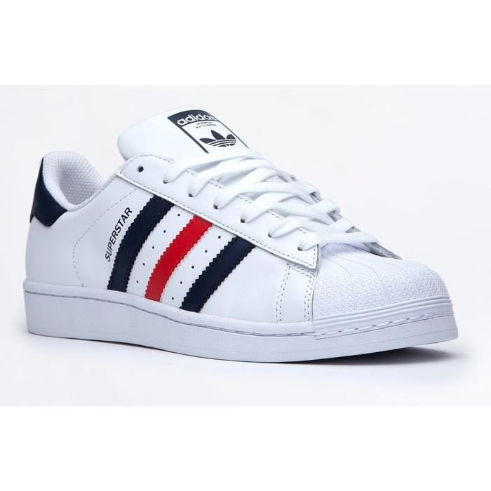 adidas Superstar Foundation bleu blanc rouge Chaussures