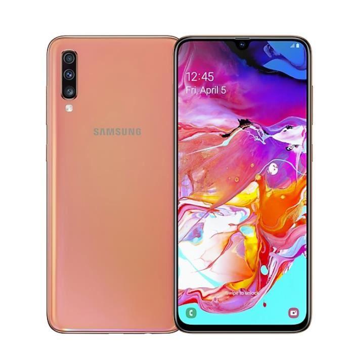 SMARTPHONE Samsung Galaxy A70 - 128Go, 6Go RAM - Corail