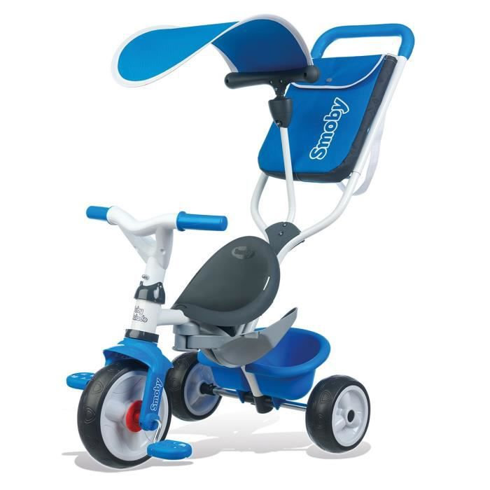 smoby tricycle baby balade 2 evolutif bleu achat vente. Black Bedroom Furniture Sets. Home Design Ideas