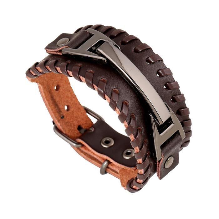 bracelet cuir homme punk