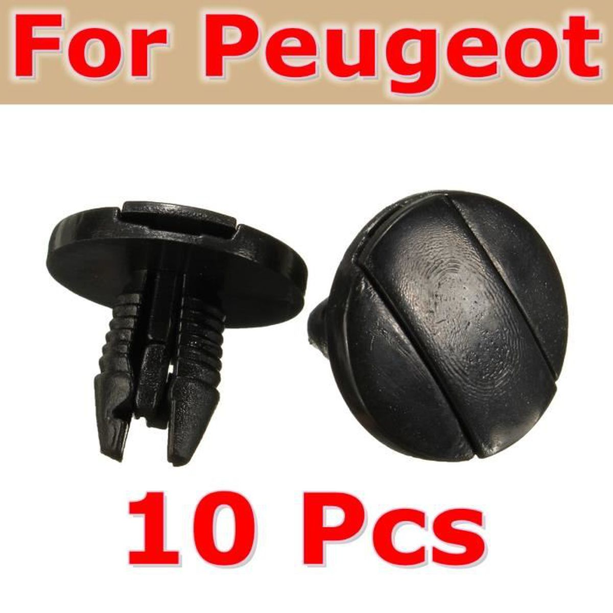 neufu lot de 10pcs pare boue rivet attaches fixation pinces pour peugeot 207 307 206 sw cc. Black Bedroom Furniture Sets. Home Design Ideas