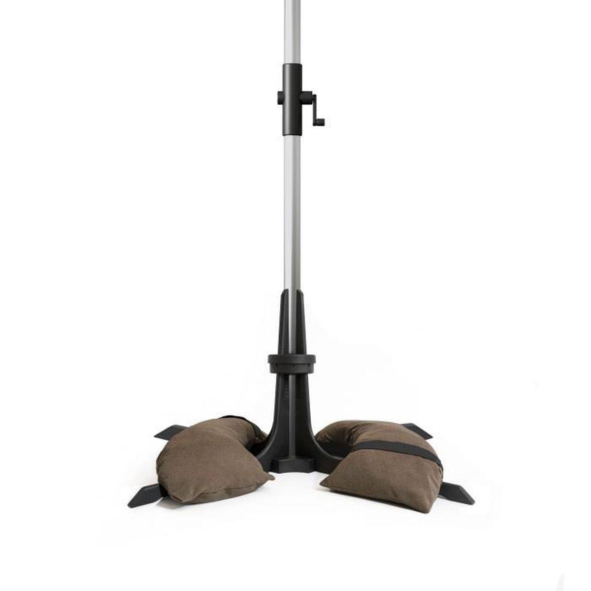 DALLE - PIED DE PARASOL Pied de parasol Baser pour la terrasse 50kg, marro