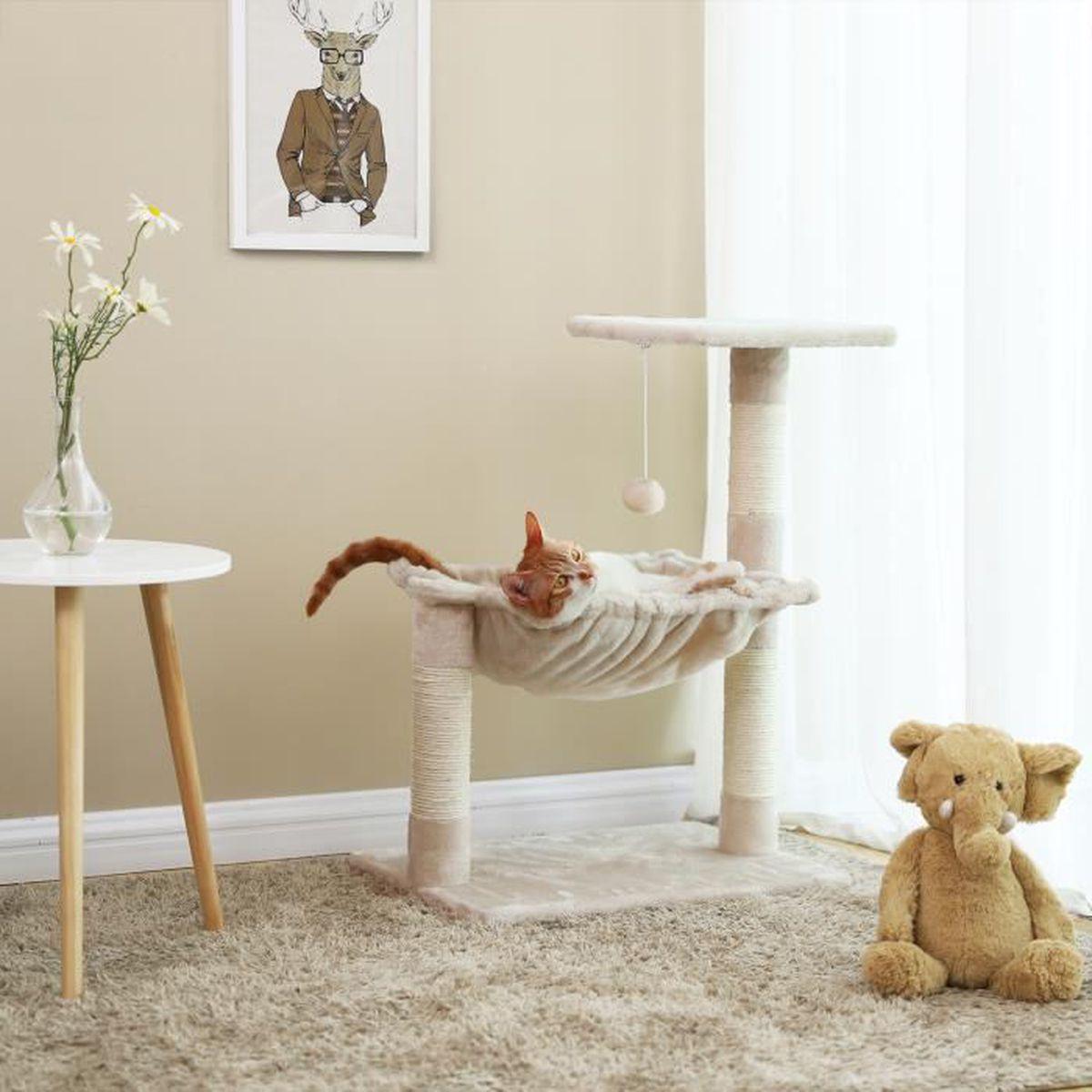 Griffoir Chat Fait Maison arbre a chat pour grand chat