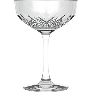 Coupe à Champagne Lot de 4 coupes de champagne en verre Transparent
