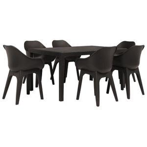 Table de jardin en plastique avec 6 chaise