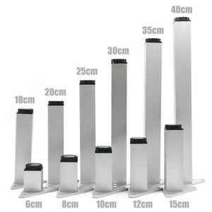 PORTE MONNAIE 4pcs 30cm Meubles Pieds Cabinet Pieds En Aluminium