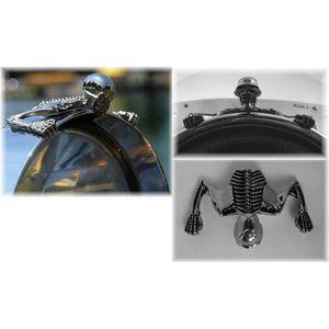 Noir Anzene 5 lampe de t/ête de moto phare Grill Chopper Bobber