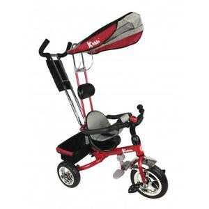 DRAISIENNE Kiddo Rouge Smart Nouveau Design 4-en-1 Tricycle E