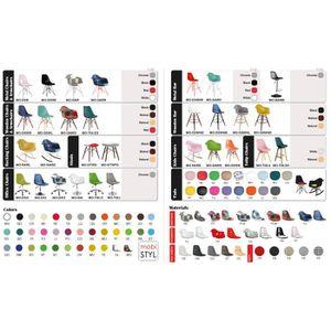 FAUTEUIL 2x Fauteuil Style Eames DAR Eiffel Design Hauteur