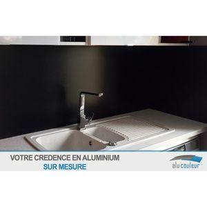 CREDENCE Crédence Aluminium noir ( RAL 9005) H 20 cm x L 40