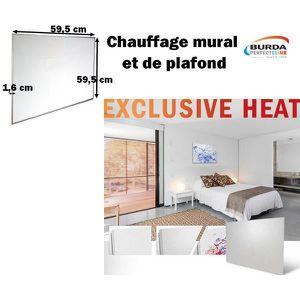 RADIATEUR ÉLECTRIQUE Chauffage mural EXCLUSIVE HEAT,300W, blanc/ Chauff