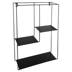 etagere metal noir achat vente pas cher. Black Bedroom Furniture Sets. Home Design Ideas