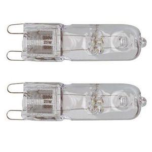 AMPOULE - LED TEC HIT LIGHT Lot de 2 ampoules halogènes G9 230 V