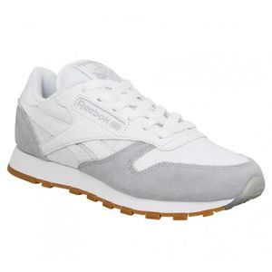BASKET Baskets REEBOK Classic Leather SPP-40-Blanc Gris