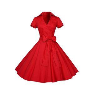 ROBE Tomwell Femme Vintage 1950's Audrey Hepburn Robe d