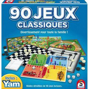 JEU SOCIÉTÉ - PLATEAU SCHMIDT Coffret de 90 Jeux Classiques