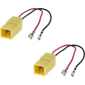 CÂBLE TV - VIDÉO - SON 2 X Cables adaptateurs fiche pour enceintes haut-p