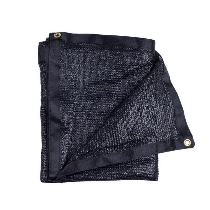 50 % HzY Voile Pour Serres Filet d'Ombrage Coupe-Vent Et Soleil Avec Oeillets Noir - ShadeCloth 3.5m * 11.8m