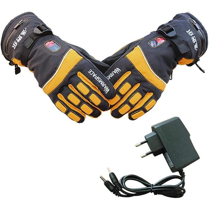 PROKTH Gants Chauffants avec Batterie pour Hommes et Femmes Gant Chauffant d'hiver pour Moto, Ski, Alpinisme, vélo, VTT, Camping, pê