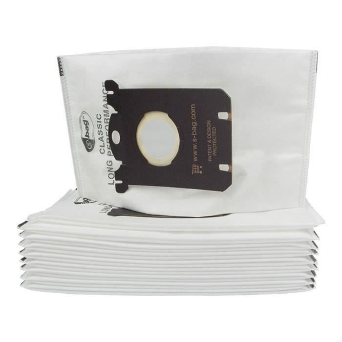 Sac de poussière de sacs d'aspirateur de 10 morceaux pour le filtre d'aspirateur d'Electrolux et S-BAG
