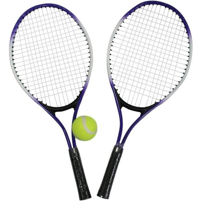 GERI Tennis Ensemble & Ballons. Set De 2 Tennis Raquettes & 1 Tennis Balle Tennis Raquette & Sac