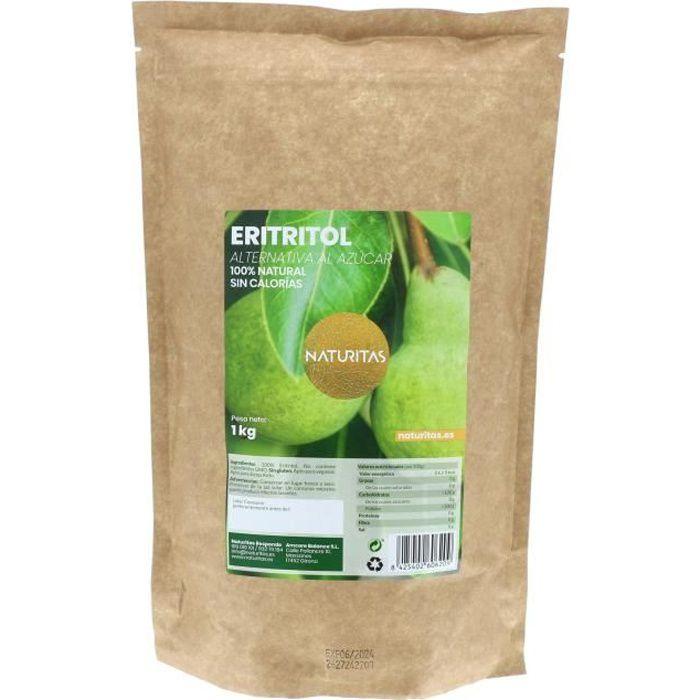 Naturitas Erythritol 1kg - Il n'a pas de calories - Convient pour végétalien - Parfait pour perdre du poids - Même goût que le sucre