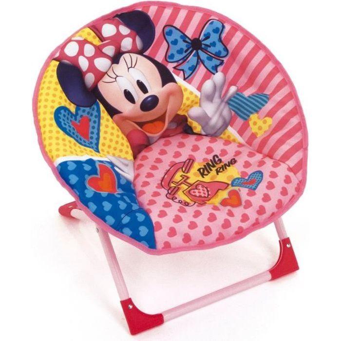 DISNEY Fauteuil Rond Pliable Minnie Mouse Pour Enfant - Montée 50x50x50 cm