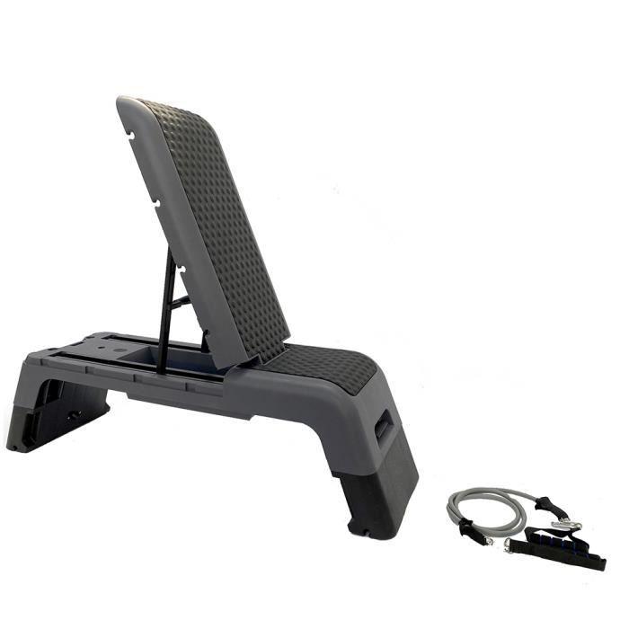 Step Deck Fitness - 3 angles de position - Coloris Gris/noir