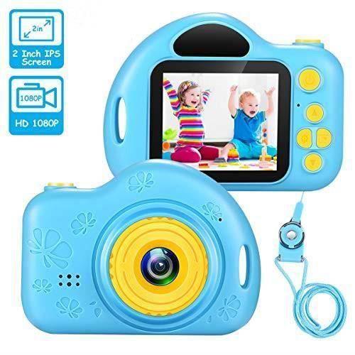 Appareil Photo Enfant,Caméra Enfant,Cadeaux 3-8 Ans Filles Joy-Fun Appareil Photo Enfants Appareil Photo Numerique Enfant--bleu