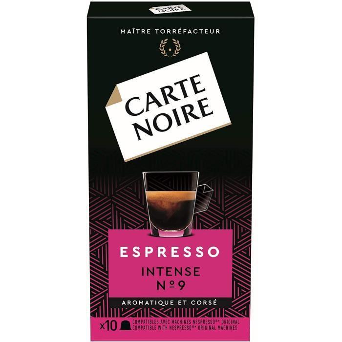 Carte Noire Café Espresso Intense N°9 Capsules Compatibles Nespresso 10 Paquets de 10 capsules (100 Capsules)