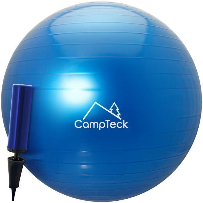 CampTeck U6764 Ballon Suisse de Gym 65cm Ballon d'exercice avec Pompe a Main pour Fitness, Salle de Gym Yoga Pilâtes - Bleu