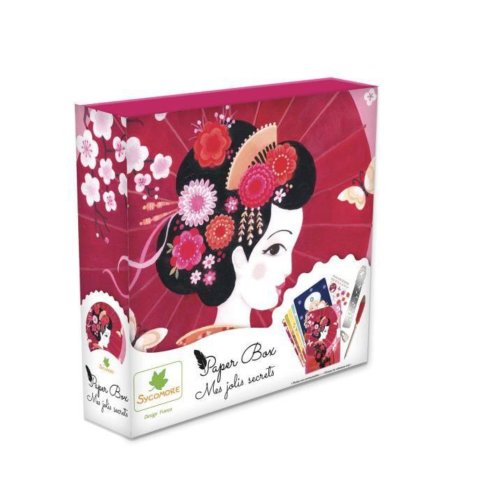 SYCOMORE - Paper Box - Kit de papeterie pour enfants - Mes jolies secrets - Princesses - Petit Modèle - Dès 7 ans