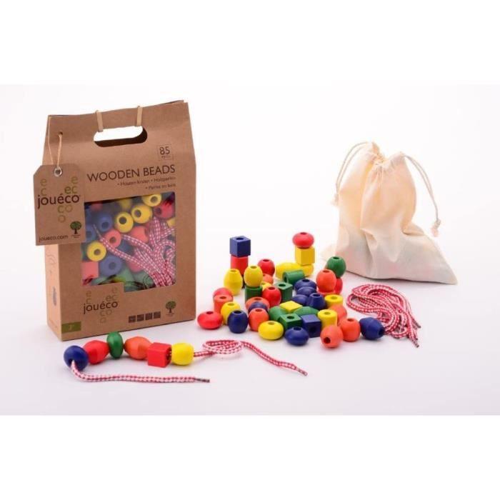Perles en bois - enfants - perles à enfiler