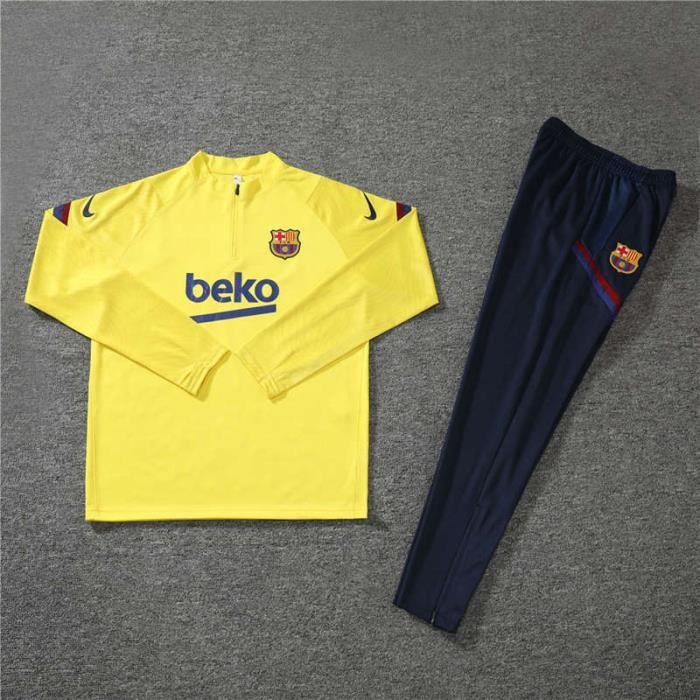 Maillot de Foot Barcelona - Maillot Foot Enfants Garçon Homme 2020 - 2021 Survêtements Foot Maillot de Foot - Haut et Pantalon