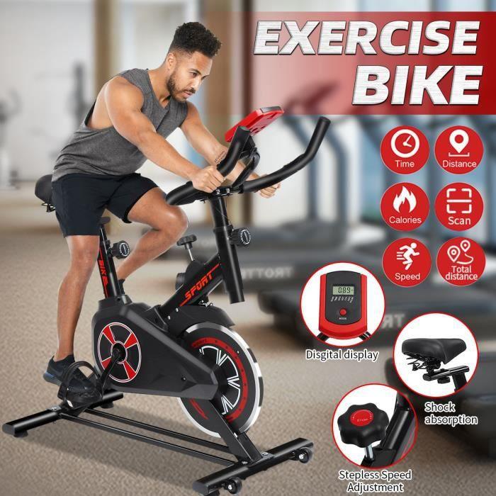 Vélo d'intérieur Vélo Fitness Gym Exercice Stationary Bike Cardio Workout Home