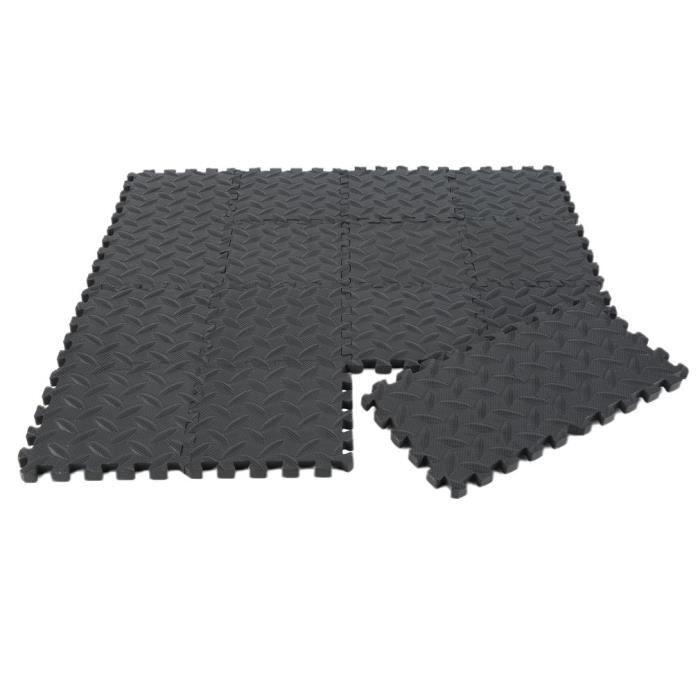 36pcs Tapis de protection de sol – Matelas puzzle pour matériel fitness, gym, musculation – 15cm*15cm