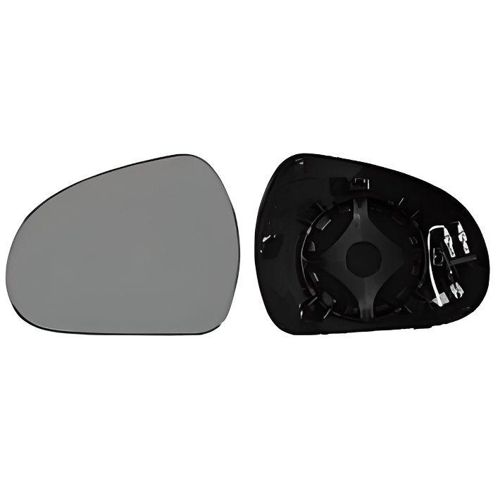 Miroir Glace rétroviseur gauche PEUGEOT 207 phase 1, 2006-2009, asphérique, à clipser, Neuf.