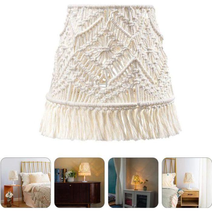1PC Bohemian Shade Macrame Lampe Couverture de lumière macrame abat-jour vendu seul luminaire d'interieur