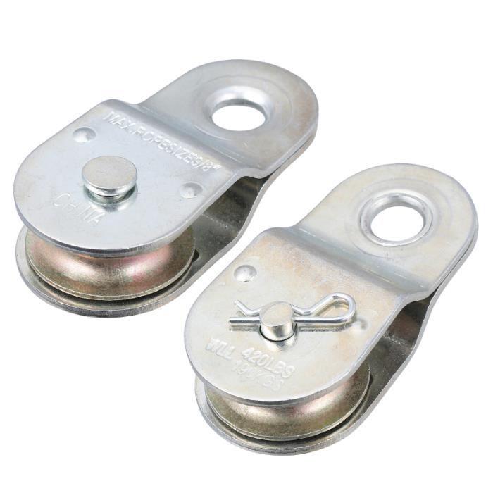 Poulie de câble de fil de levage de roue de remorquage de suspendu en acier de poulie simple de BARRE POUR TRACTION - DIP STATION