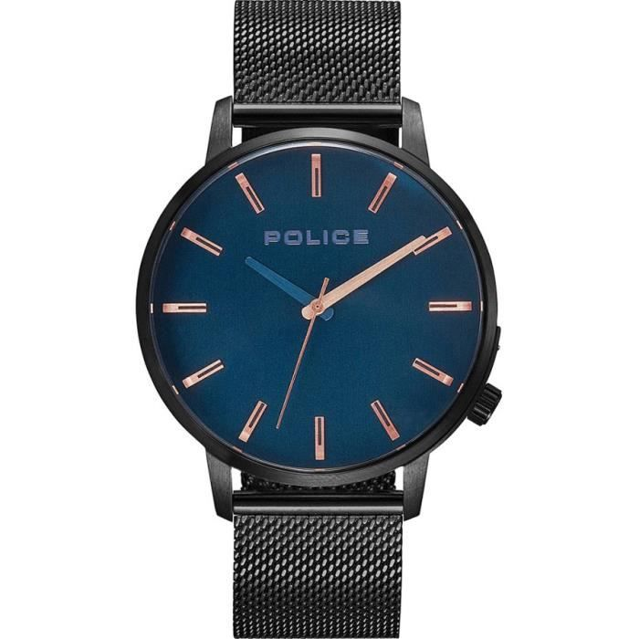 Montre Police - Bracelet Milanaise - Homme - Cadran Acier - PL.15923JSU/03MM